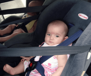 Rear facing baby seats included in transfer